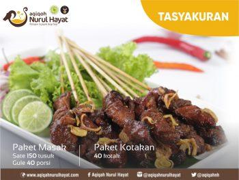 Aqiqah Surabaya Nurul Hayat Menu Sate