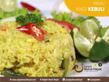 Aqiqah Surabaya Nurul Hayat menu Nasi Kebuli